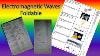 Electromagnetic Spectrum Foldable for Interactive Notebook or Binder