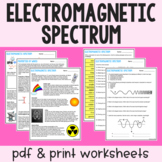 Electromagnetic Spectrum - Guided Reading & Worksheets - P