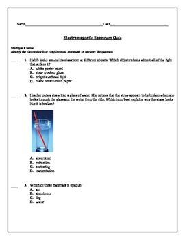 Electromagnetic Spectrum Quiz