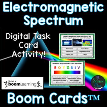 Electromagnetic Spectrum Task Cards - Digital Boom Cards™
