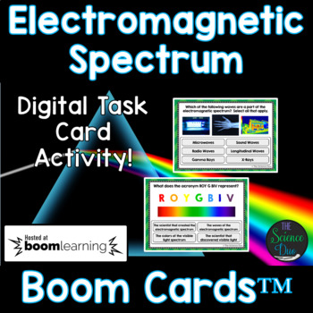 Electromagnetic Spectrum Task Cards - Digital Boom Cards™