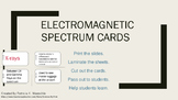 Electromagnetic Spectrum Task cards and Student Graphic Organizer