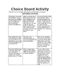 Electromagnetic Waves ChoiceBoard