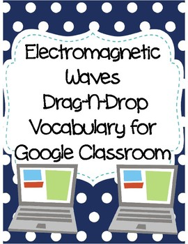 Electromagnetic Waves Drag-n-Drop Vocab for Google Classroom
