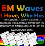 Electromagnetic Waves I Have...Who Has... Activity Set for Middle School