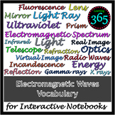 Electromagnetic Waves Vocabulary for Interactive Notebooks