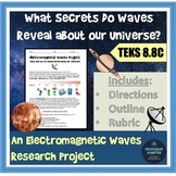 Electromagnetic Waves of the Electromagnetic Spectrum Universe Project TEKS 8.8C