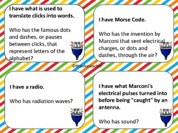 Electromagnetism : I Have Who Has? Game