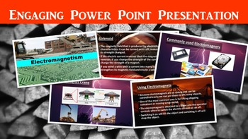 Electromagnetism Lesson with Power Point, Worksheet, and Laboratory Sheet