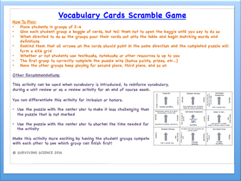 Electromagnetism & Magnetic Fields: Physics Vocabulary Scramble Game