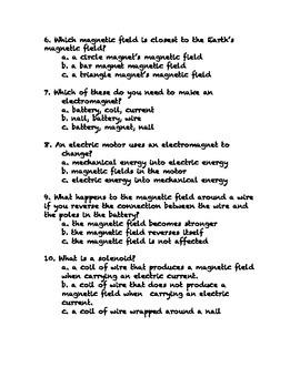 Electromagnetism Quiz