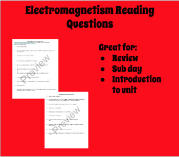 Electromagnetism Reading Questions