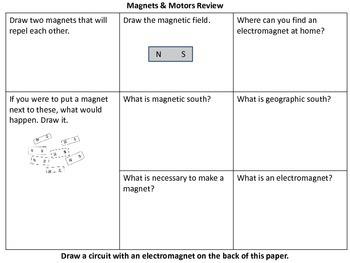 Electromagnetism Review (Magnets & Motors Science Unit)