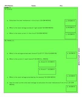 Electromagnetism Unit Test