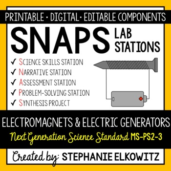 MS-PS2-3 Electromagnets and Electric Generators Lab Stations Activity