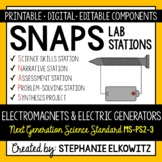 MS-PS2-3 Electromagnets and Electric Generators Lab - Printable & Digital