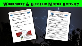 Electromagnets and Motion No Prep Lesson w/ Power Point, Worksheet and Activity