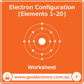 Electron Configuration (Elements 1-20) [Worksheet] by Good Science ...