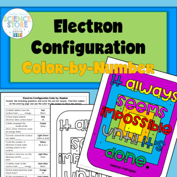 Electron Configuration Color-by-Number