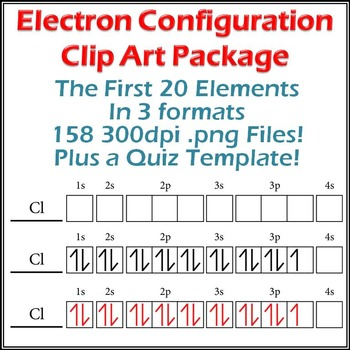 Electron Configuration Diagrams Clip Art and Make-Your-Own