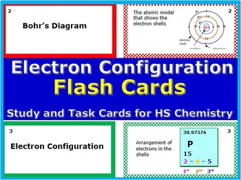 Electron Configuration Flash Cards: Printable Study & Task Cards for HS Chem