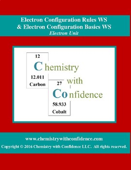 Electron Configuration Rules WS & Basics WS