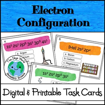 Electron Configuration Task Cards - Interactive Online Boom Cards Activity
