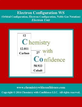 Electron Configuration WS (Orbital/Electron/Noble Gas Configurations)