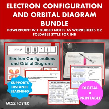 Electron configurations teaching resources teachers pay teachers electron configuration and orbital diagram bundle ppt and graphic organizer ccuart Gallery