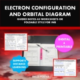 Electron Configuration and Orbital Diagram Graphic Organizer Foldable for INB
