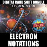 Electron Configurations Boom Cards BUNDLE (1-18)   Distanc