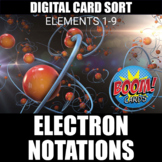 Electron Configurations Boom Cards (1-9) | Distance Learning