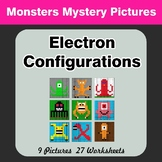 Electron Configurations - Mystery Pictures - Monsters