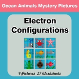 Electron Configurations - Mystery Pictures - Ocean Animals