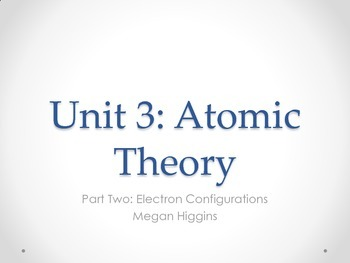 Electron Configurations Powerpoint