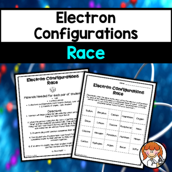 Electron Configuration Worksheets Teaching Resources TpT