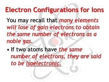 Electron Configurations: Set of 4 Power Points!