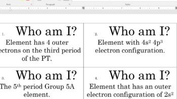 Electron Configurations: Who Am I?