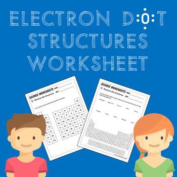 Electron Dot (Lewis) Structure Diagram Worksheet