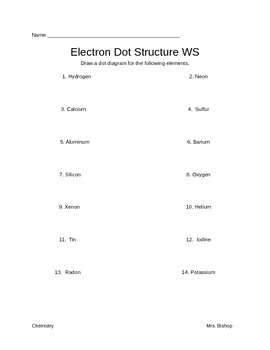 Electron Dot Structure WS