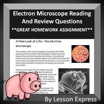 Electron Microscope Reading and Questions