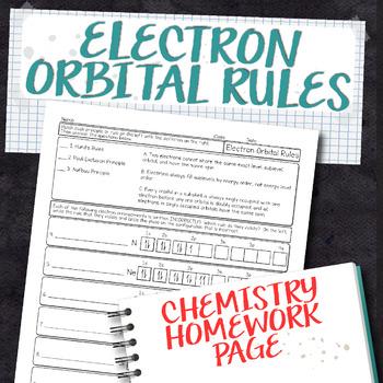 Electron Orbital Rules Chemistry Homework Worksheet