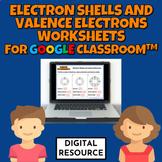 Electron Shells & Valence Electrons Google Digital Workshe