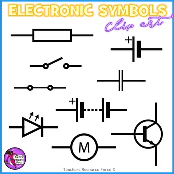 Electronic Components and circuit symbols clip art by Teachers ...