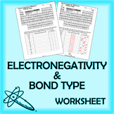 Electronegativity Difference & Bond Type Worksheet