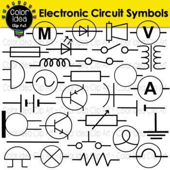 electronic schematics symbols circuits electronic circuit symbols by color idea teachers pay teachers  electronic circuit symbols by color