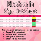 Electronic Classroom Sign-Out Sheet