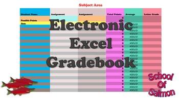Electronic Excel Gradebook