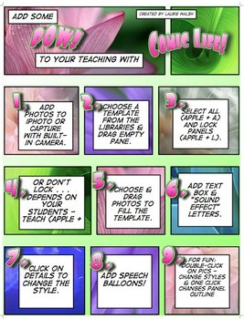 Electronic File (Mac Only) Teacher's Guide for Comic Life