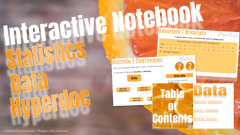Statistics/Data - HyperDoc (Interactive) Notebook